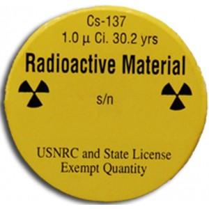 Check Source, Cs-137, 1 microCi