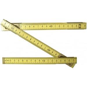 Wooden Metric / Inch Folding Rule, 2 Meter / 78 Inch Long