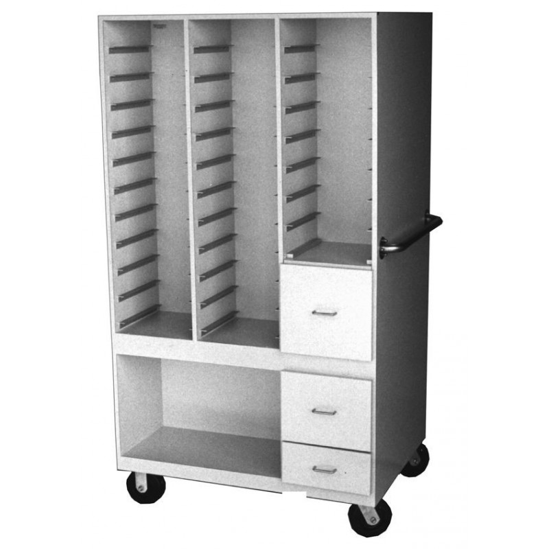Double Sided Mobile Storage Cabinet - Radiation Products ...