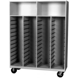 Mobile Storage Cabinet, 48 Trays Size, 12 1/4 Inch to 12 3/4 Inch