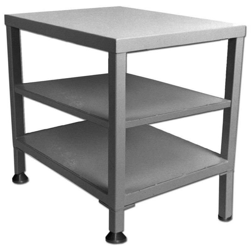 Steel Table With Two Shelves 36 W X 24 D Inch H