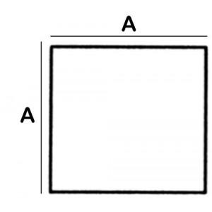 Square Lead Block 14.0cm square x 6cm High