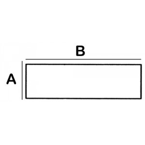 Rectangular Spinal Cord Lead Block 1.0cm W x 20.0cm L x 5cm High with 2 feet