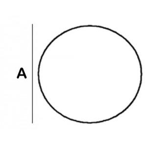 Round Lead Block 1.0cm diameter x 8cm High with foot