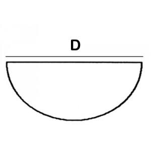 Half Round Lead Block 4.0cm diameter x 6cm High