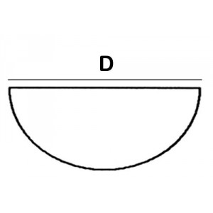 Half Round Lead Block 12.0cm diameter x 6cm High