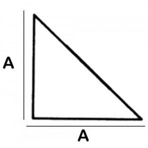 Triangular Lead Block 4.5cm x 4.5cm x 8cm High