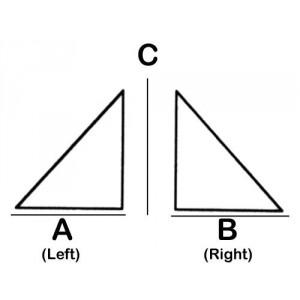 R-Triangular Lead Block 3.0cm x 7.0cm x 5cm High