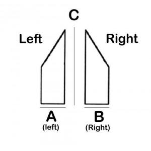Angular / Rectangular Lead Block 50 deg Right 6cm x 17.8cm x 5cm High