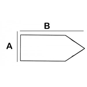Pointed-Rectangular Lead Block 4cm x 12cm x 5cm High
