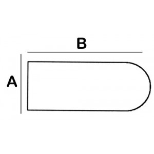 Rounded-Rectangular Lead Block 2cm x 10cm x 8cm High