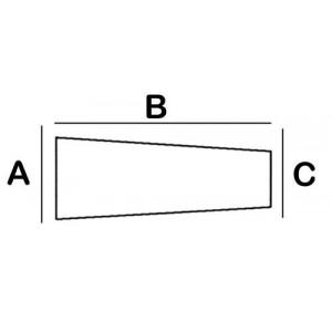 Trapezoid Lead Block 2.2cm x 5cm x 1.5cm x 8cm High