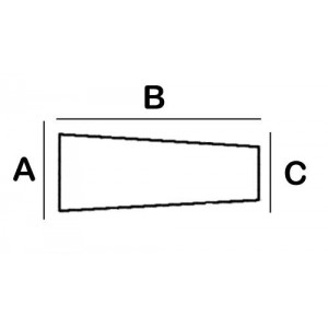 Larynx Lead Block 1cm x 2cm x 0.5cm x 8cm High with foot