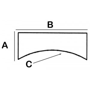 Concave-Rectangular Lead Block 5cm x 12cm x 10cm x 5cm High