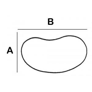 Kidney Shaped Lead Block 3.9cm x 6.85cm x 6cm High