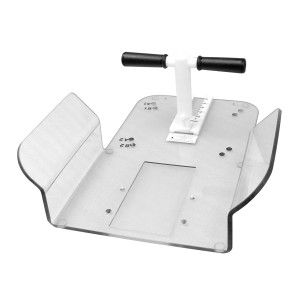 Narrow Extended Butterfly Board with T-Bar Handle, in Polycarbonate