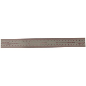 Transparent Plastic Ruler, 30cm Long
