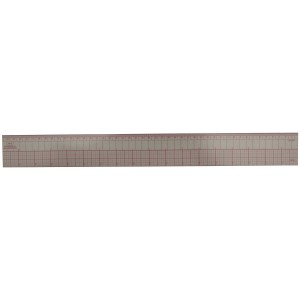 Transparent Plastic Graph Ruler, 45cm or 18in Long