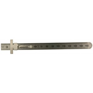Stainless Steel Flexible Ruler with Pocket Clip, 150mm Long