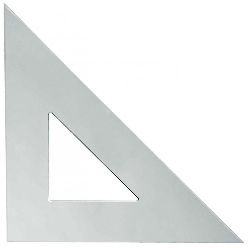 Plastic Triangle 12in 45 Degree 45 Degree Radiation