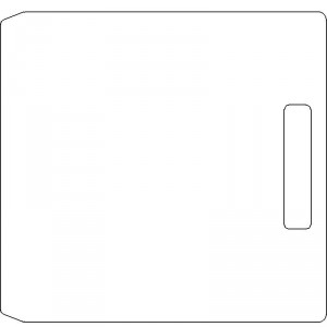 10 Inch Wide Varian CL4 3/8 inch thick Polycarbonate Tray Blank with No Scribing