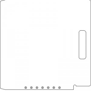 Elekta SL 25/75 3/8 inch thick Acrylic Tray Blank with No Scribing
