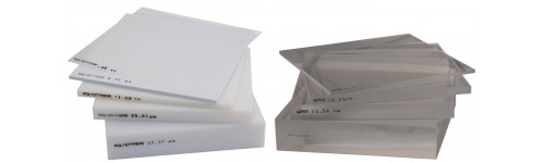 Polystyrene and Acrylic Sheets