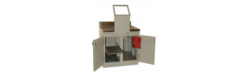PET Workstations, Cabinets, Safes, L Blocks and Tables