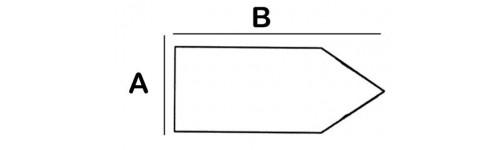 Pointed Rectangular Lead Block