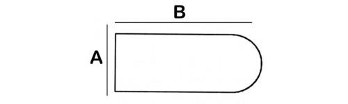 Rounded Rectangular Lead Block