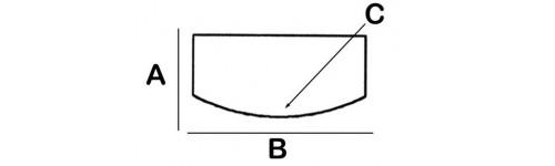 Convex Rectangular Lead Block