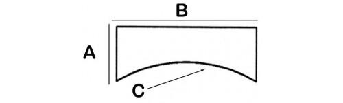 Concave Rectangular Lead Block